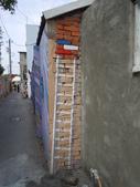 102.11.19 [台南彩繪] 永康復興老兵眷村:牆隅的樓梯