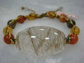 水晶手鍊:銀髮晶+三色石手排
