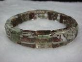 水晶手鍊:綠幽靈手排