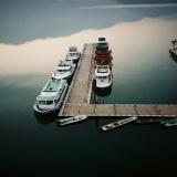 日月潭-晚上:船隻也靠岸了
