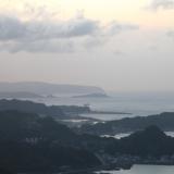 台北-晚上:九份山城望海