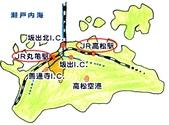 2014四國-一鶴骨付鳥:丸龜位置圖.jpg