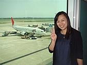 2010大阪,ただいま~:姐姐和飛機的合照