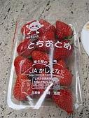 2009出發去東京DAY5:在築地的路邊買的草莓,老闆很有趣