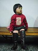 陳帝允的登大人記錄(2009-3歲):20090101因為聽說允允剪了個俏麗短髮